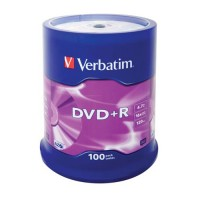 Диск Verbatim DVD+R 4.7GB 16x AZO CakeBox 100шт
