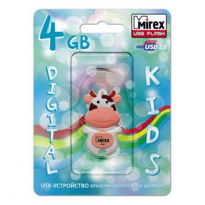 4GB USB флэш-диск MIREX Cow Peach в виде игрушки