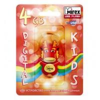 4GB USB флэш-диск MIREX Dragon Red в виде игрушки