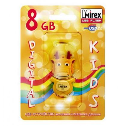 8GB USB флэш-диск MIREX Dragon Yellow в виде игрушки