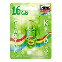 16GB USB флэш-диск MIREX Dragon Green в виде игрушки