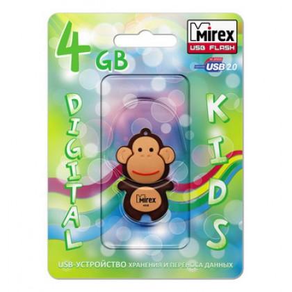 4GB USB флэш-диск MIREX Monkey Brown в виде игрушки