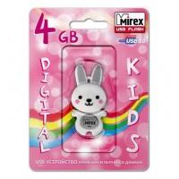 4GB USB флэш-диск MIREX Rabbit Grey в виде игрушки