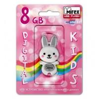 8GB USB флэш-диск MIREX Rabbit Grey в виде игрушки