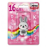 16GB USB флэш-диск MIREX Rabbit Grey в виде игрушки