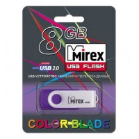 8GB USB флеш-диск MIREX Swivel Rubber Violet