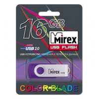 16GB USB флеш-диск MIREX Swivel Rubber Violet