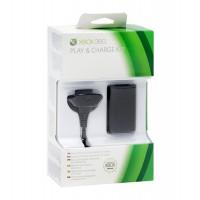 Комплект зарядный  Black Charge Kit для геймпада (Xbox 360)