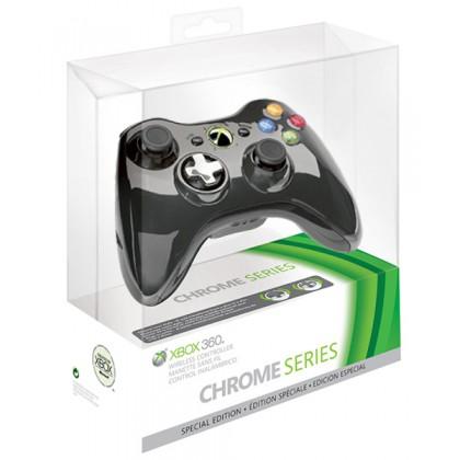Геймпад беспроводной (Xbox 360) Wireless Controller Chrome Black