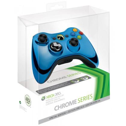Геймпад беспроводной (Xbox 360) Wireless Controller Chrome Blue