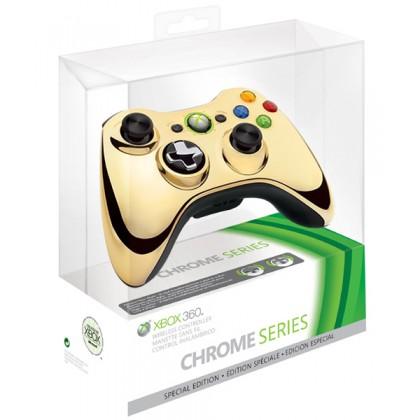 Геймпад беспроводной (Xbox 360) Wireless Controller Chrome Gold