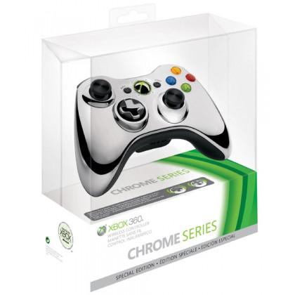 Геймпад беспроводной (Xbox 360) Wireless Controller Chrome Silver