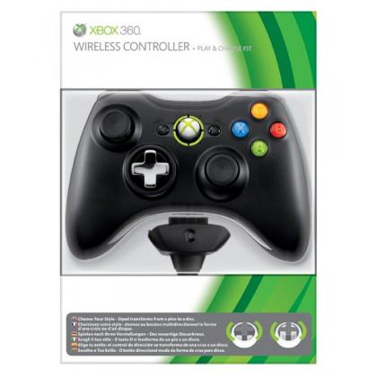 Геймпад беспроводной (Xbox 360) + Play and charge Kit