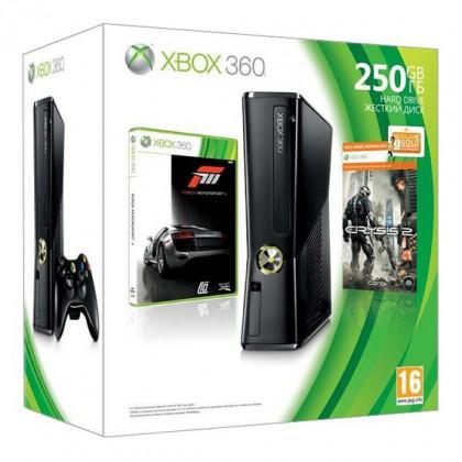 Игровая приставка Xbox 360 250GB + Crysis 2 + Forza Motosport 3