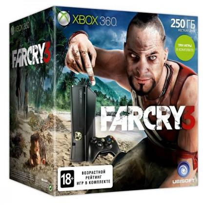 Игровая приставка Xbox 360 250GB + Far Cry 3 + Forza 4 + Ведьмак 2