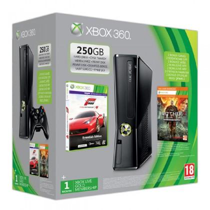 Игровая приставка Xbox 360 250GB + Forza 4 + Ведьмак 2