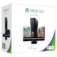 Игровая приставка Xbox 360 4GB + Kinect + Kinect Sports 2