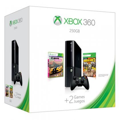 Игровая приставка Xbox 360E 250GB + Forza Horizon + Borderlands 2