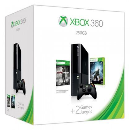Игровая приставка Xbox 360E 250GB + Halo 4 + Tomb Raider
