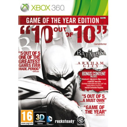 Batman: Arkham City Game of the Year Edition (Xbox 360) Русские субтитры
