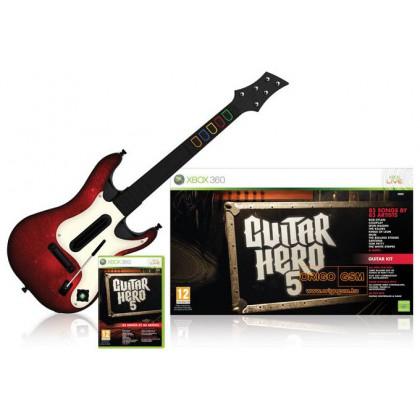 Guitar Hero 5 (Xbox 360) Игра + Гитара